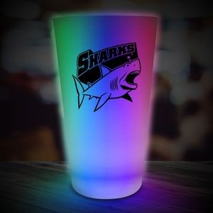 16 Oz. Multi-Colored Neon Look Pint Glass