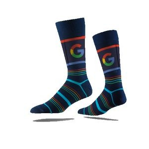 Business Printed Crew Sock