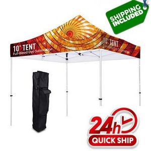 Premium Aluminum 10' Tent Kit Silver (Full-Bleed Dye Sublimation)