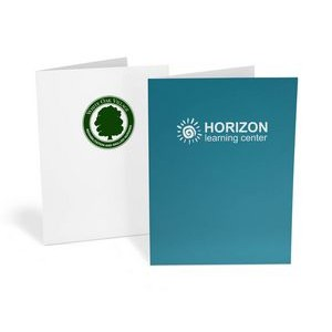 Ink Printed Pocket Folder-Standard White Paper