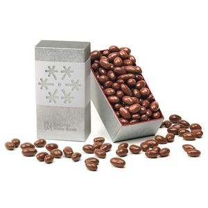 Chocolate Covered Almonds in Snowflake Gift Box