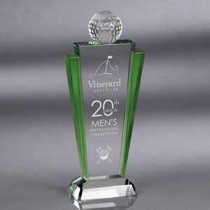 Howard Miller Meridian - Large Golf Crystal Award
