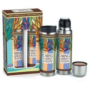 Caring Is Always In Season Travel Tumbler & Stainless Steel Vacuum Thermos Gift Set