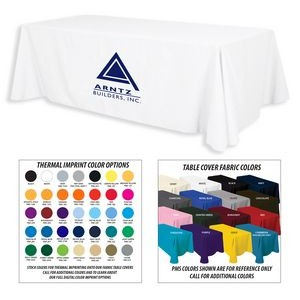 6' Premium 1-Color Thermal Transfer Table Cover