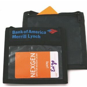 "Gyssien Non Woven Credential Wallet with Flap (5""x4.75"")"